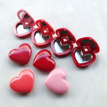Love Heart Shape pusty Eyeshadow Case Rouge pudełko na szminki paleta pigmentowa wielokrotnego napełniania fundacja makijaż dozownik nowość tanie i dobre opinie Nie posiada CN (pochodzenie) NONE Lusterko do makijażu