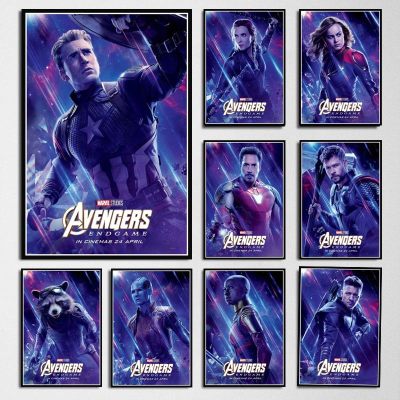Poster UNFRAMED Avengers Endgame Marvel Movies Comics Cartoon Picture