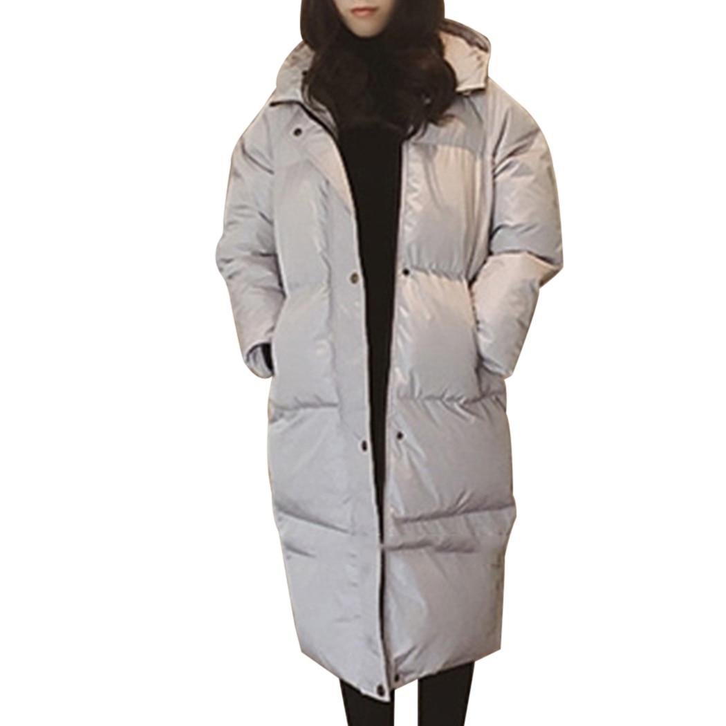 Fashion Women Oversized Long Coat   Parka   2018 Winter Thick Warm Jacket Overcoat Cotton Padded Coats Outwear Female Long   Parkas