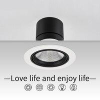 SCON AC110 240V led 25W Downlight embedded COB CREE lamp intelligent SCR dimmer 0~10 dimming CRI Ra>85 modern indoor lighting