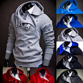 2016 Fashion Brand Hoodies Mens Casual Sportswear Man Hoody Oblique Zipper Sweatshirt Men 8 Colors  Slim Fit Male Hoodies SWY26