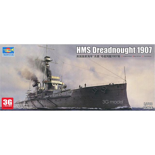 Trompetista modelo navios de 06704 HMS Dreadnought Marinha Real Britânica 1907