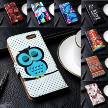 Luxury PU Leather Mobile Phone Cases For Fly Cirrus 4 FS507 5.0 inch Cover With Card Holders Anti-Knock Phone Holster Bags