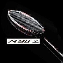 N90 III карбоновая ракетка для бадминтона с веревкой и овергрипом n90 ракетка для бадминтона n903