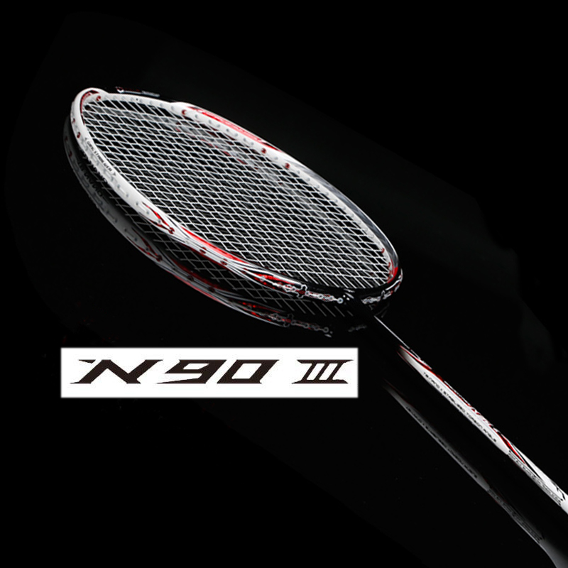 N90 III carbon badminton racket with string and overgrip n90 badminton racket n903 tênis masculino lançamento 2019