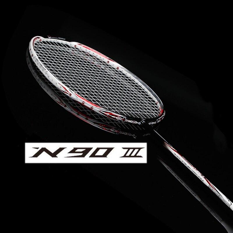 N90 III badminton de carbone raquette avec de la ficelle et surgrip n90 raquette de badminton n903