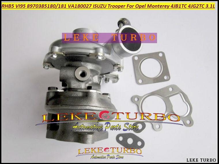 RHB5 VI95 8970385180 8970385181 VA180027 Turbo Turbocharger For ISUZU Trooper For Opel Monterey 4JB1T 4JB1TC 4JG2TC 4JG2 3.1L  цены