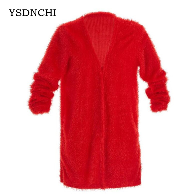 YSDNCHI Plus Velvet Coats Autumn   Basic     Jackets   Female Women Winter   Jacket   Spring Clothes Long Sleeve Loose Outwear Winter Coats