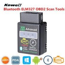 KOWELL Мини ELM327 автомобильный OBD2 CAN BUS сканер инструмент с функцией Bluetooth OBDII Умный интеллектуальный диагностический поддерживает чип супер