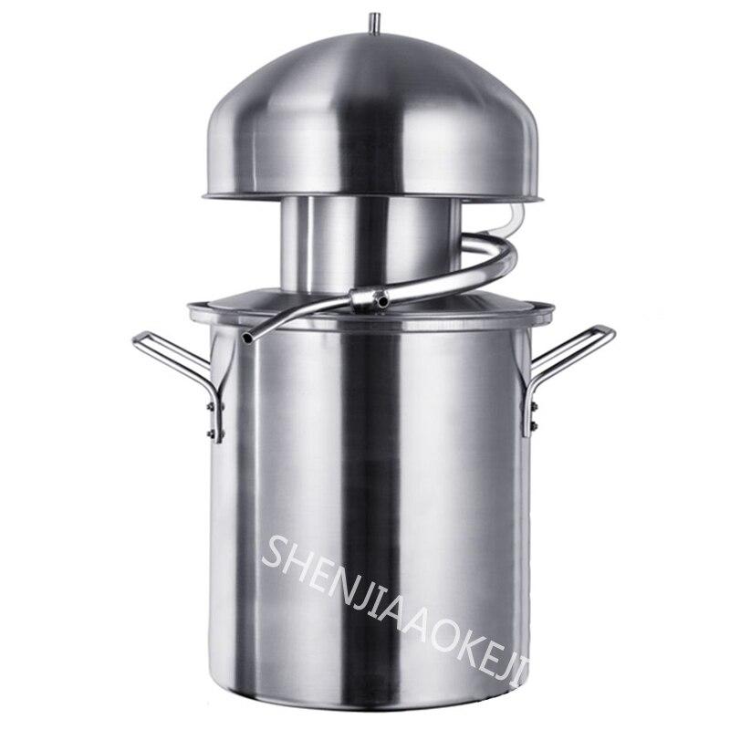 1 PC NB10 Anti-pâte Pot distillateur vapeur vin pur huiles essentielles Machine rosée Machine 304 acier inoxydable alcool distillateur
