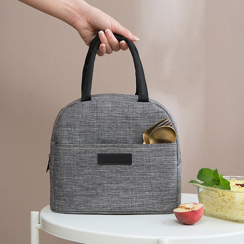 2019 New Good Quality Cationic Fabric Waterproof Lunch Bag Women Men Portable Lunch Box Bags Aluminum Foil Insulation Cooler Bag