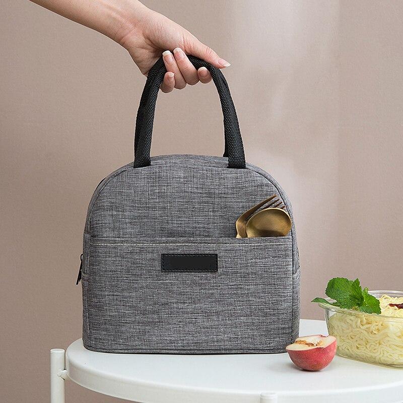 2019 New Good Quality Cationic Fabric Waterproof Lunch font b Bag b font Women Men Portable