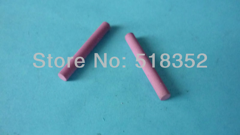 Dia.4mm x L30mm Wire Blocking Ceramic Rod, Bearing Bracket of Molybdenum Wire for EDM Wire Cut Machine Parts image