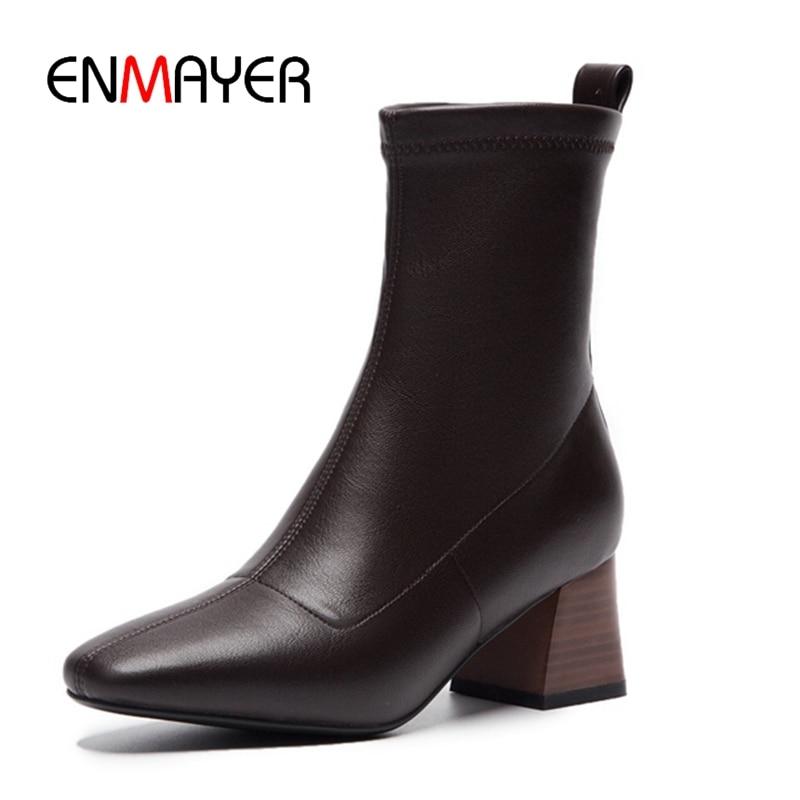 En khaki Cuero Enmayer Cuadrado Zapatos Del De Zyl1642 Pie Size34 Mujer Dedo  40 Bolso Genuino ... 2a43a1e600b2