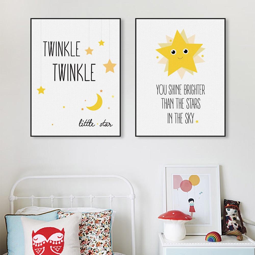 Buy kawaii minimalist twinkle stars Minimalist typography