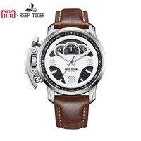 Риф Тигр/RT лучшие Брендовые мужские спортивные часы таймер с циферблатом Сталь водонепроницаемость часов Masculino Relojes RGA2105
