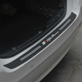 2018 New Rubber Car Rear Bumper Trim Guard Plate Protector Stickers for Alfa Romeo 147 156 166 159 Giulietta Giulia Spider GT