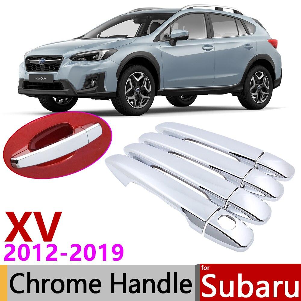 Fit For Subaru XV 2012-2015 Stainless Interior Dashboard Decorative Trim 2PCS