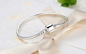 Image 3 - 100% Solid 925 Sterling Silver 16 23cm Long Snake Chain Bracelet Bangle Luxury Wedding Jewelry for Women Gift