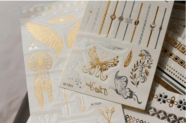 Temporary-Tattoo-Sticker-Bohemian-Hippie-Fake-Tattoo-Art-Music-Festival-Party-Wedding-Gold-Glitter-Tattoos-on-Women-Waterproof (4)
