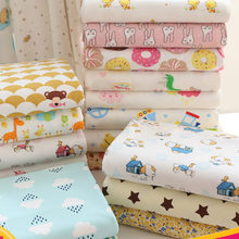 Cartoon cotton fabric A class baby clothing cotton fabric newborn baby bag bedding cotton knitted fabric(China)