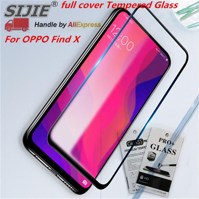 sports shoes 36571 14918 US $5.99 |full cover Tempered Glass For OPPO Find X Screen protective phone  toughened case covers 9H on frame all edges Suitable fit-in Phone Screen ...