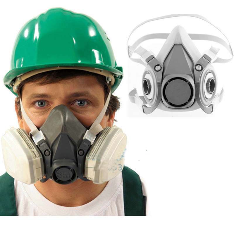 2017 New 6200 Reusable Half Face Mask Respirator Economical Low-Maintenance Simple To Handle And Extremely Lightweight Mask 3m 6300 6003 half facepiece reusable respirator organic mask acid face mask organic vapor acid gas respirator lt091