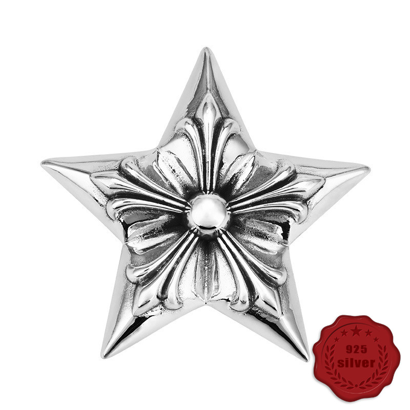 925 sterling silver pendant retro personality fashion punk style five-pointed star hip hop simple couple styling 2019 hot new925 sterling silver pendant retro personality fashion punk style five-pointed star hip hop simple couple styling 2019 hot new