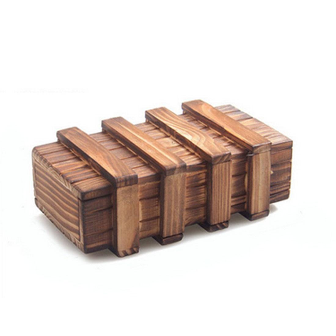 UTOYSLAND Secret Box Large Wooden Puzzle Box Secret Wood Drawer Magic Brain Teaser Educational Toys for Child ...