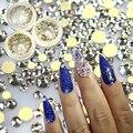 Novo 1 Garrafa Brilhando Claro AB Cor Lisa Volta Nail Art Strass De Vidro Ferramentas Unhas Decorações DIY Telefone SS3-SS10 ND283