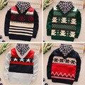 BibiCola новый фол Два Шт моды ребенка осень зима свитер детская одежда мальчиков/девочек кардиган свитер пальто детская свитер