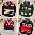 BibiCola  new faul Two Pcs fashion baby autumn winter sweater clothes baby boys/girls cardigan sweater coat Children's sweater