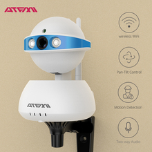 ATFMI T5 720P IP camera wifi WI-FI Night Vision wireless CCTV Home Security Camera take care pets whenever and wherever(China)