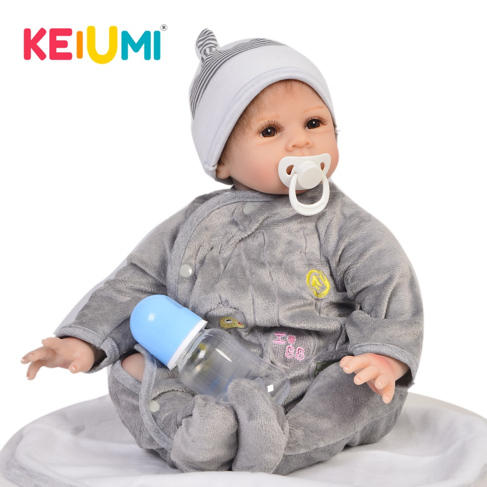 Realistic 22 Inch Soft Silicone Reborn Baby Doll Boy For Kids Birthday Gift Handmade Newborn Dolls