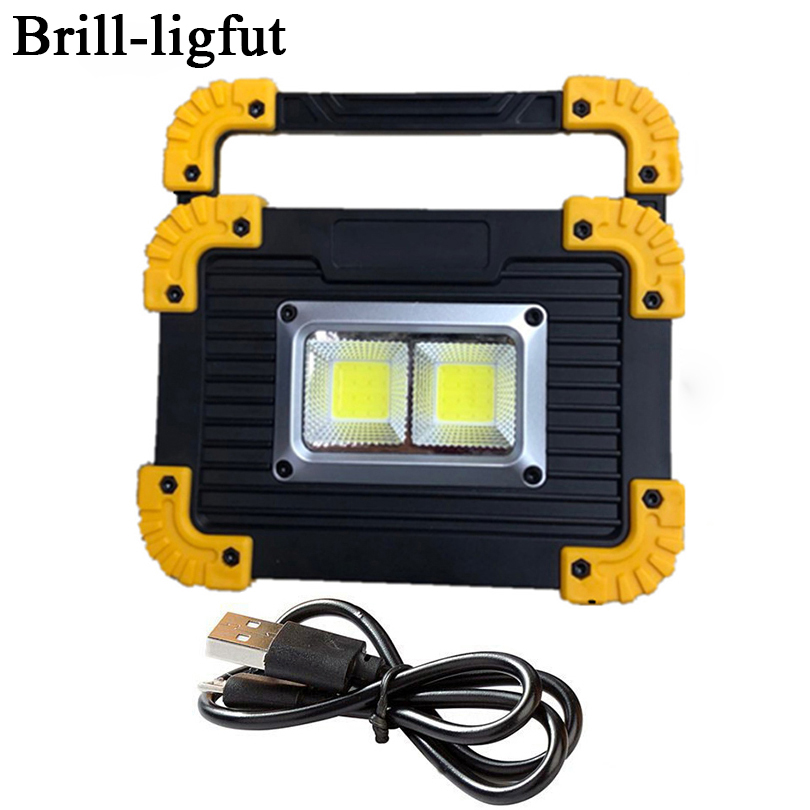 20W Portable COB LED Camping Lantern Rechargeable Work Lamp Light Floodlight Flashlight Outdoor Tent Lamp Spotlight Searchlight