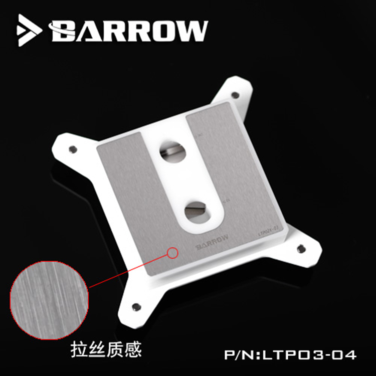 Original Barrow CPU Water Cooling Block cooler use for INTEL Socket LGA115X ((1150 1151 1155 1156)) POM 0.4MM Microchannels