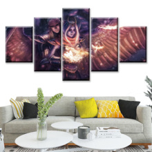 5 Piece HD Picture DOTA2 Video Game Poster Wall Sticker Lina Paintings Decoration Artwork Canvas Art for Home Decor