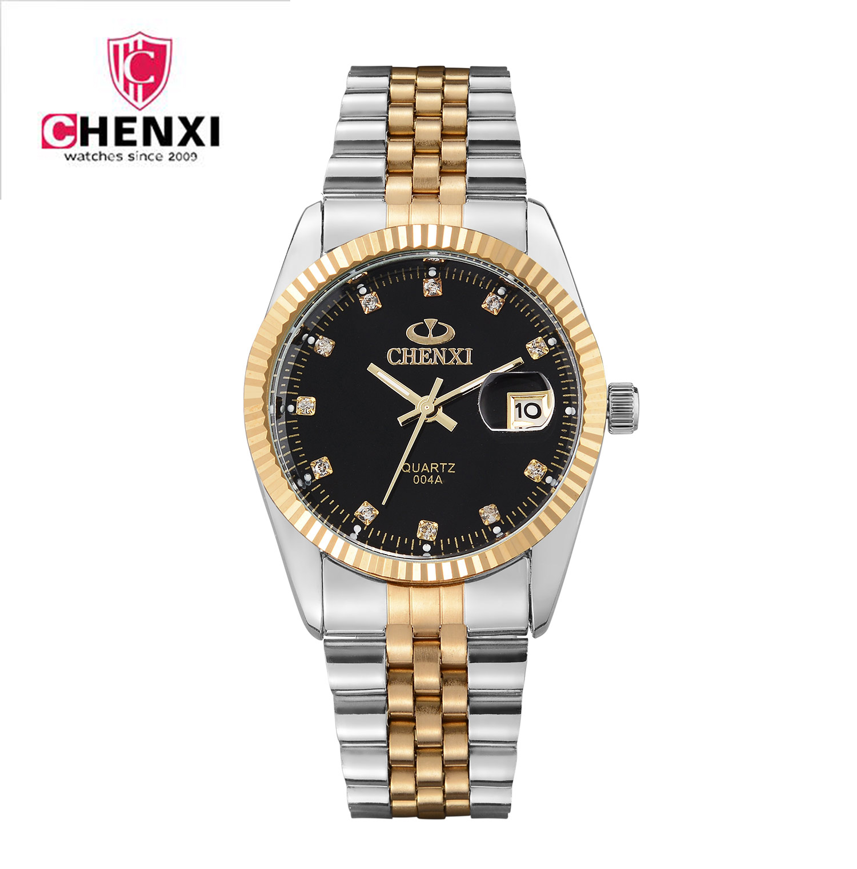 Watches Men Luxury Brand Gold Watch CHENXI Men Full Steel Wristwatches Waterproof Calendar Casual Watch Relogio Masculino Mujer