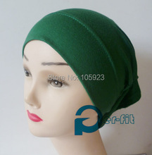 scarf tube head tube turban qualified soft cotton headband inner chemo underscarf hijab 15 colors 15pcs/lot free ship