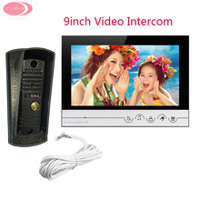 "Big sale Home Security Apartment 9 "" Monitor Video Door Phone Night Vision Metal Waterproof Camera Video Intercom System Door Monitor Kit"