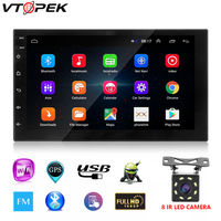 2 Din Car Radio 7 Inch Touch Mirrorlink Android Player Subwoofer Autoradio Bluetooth Rear View Camera Tape Recorder Carplay