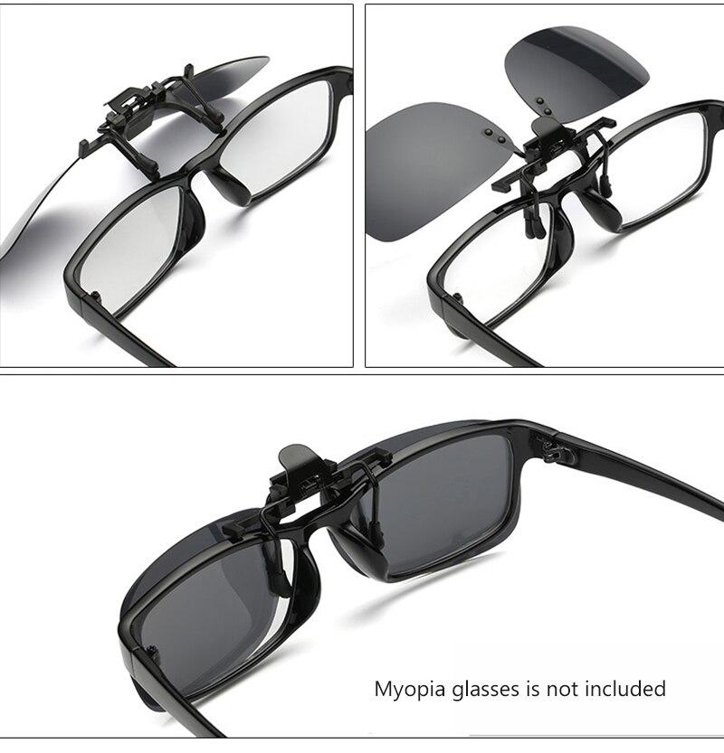 Image 3 - Polarized Clip On Flip Up Sunglasses Men Women Shades Clip on  for Myopia Glasses Driving Fishing Eyewear Eye Glasses UV400Mens Night Vision Glasses   -