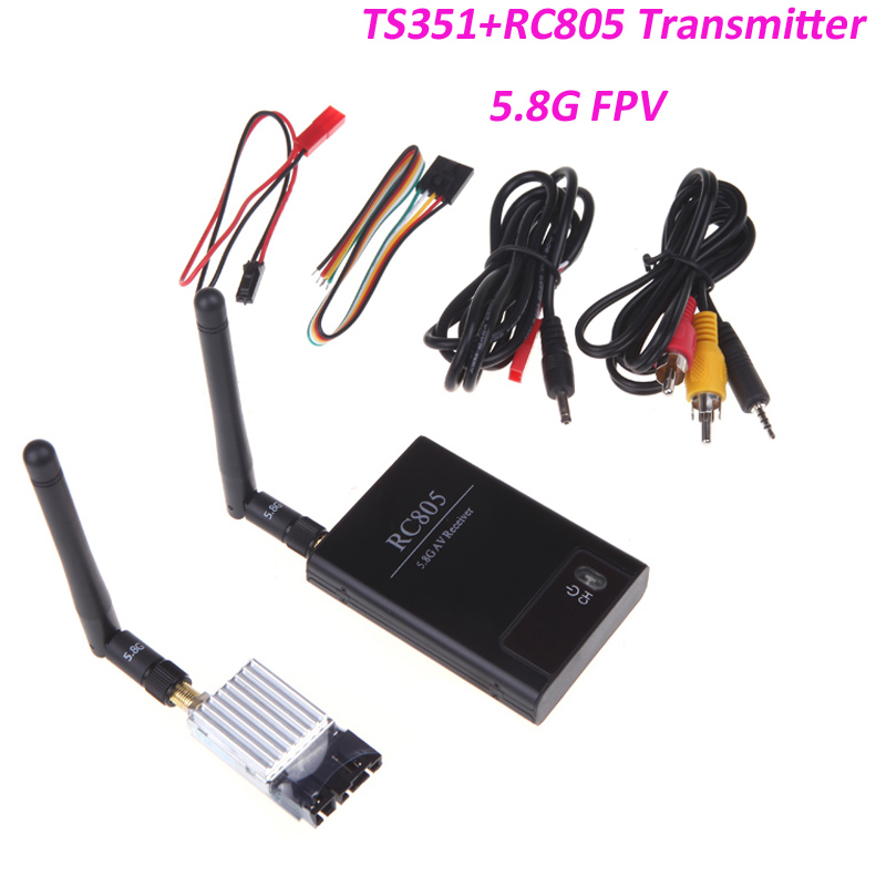 Boscam 5.8Ghz 200mW 8 Channel FPV Audio Video Transmitter&Receiver 5 TS351+RC805 2Km Range For RC Car MultiCopter wireless video fpv rctransmitter receiver 5 8g 200mw 23dbm 8 channels for rc drone qav250 cctv camera video camera toy parts