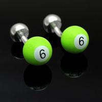 8 Ball Cufflinks Sport Accessorie Cuff Link Silver Plated Fancy Gifts