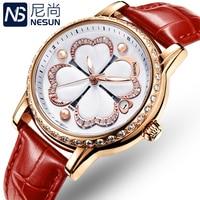 Switzerland Nesun женские часы люксовый бренд кварцевые часы женские жемчужные Часы Relogio Feminino часы с бриллиантами наручные часы N9069-5