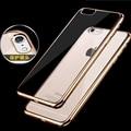 Luxo subiu chapeamento de ouro crystal clear tpu soft case para letv leeco Le 3X720 Pro Tampa Traseira para Le Le Pro3 Eco Silicone casos
