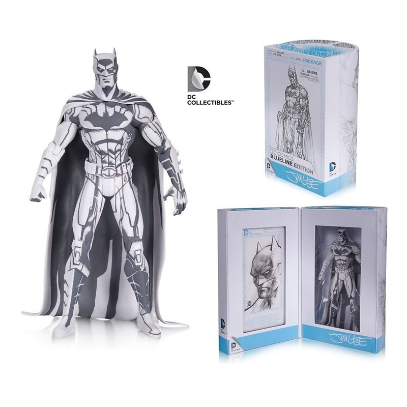 SDCC DC Comics Sketch Batman Figure Blueline Edition JimLee Con Batman PVC Action Figures Toy Brinquedos saintgi batman v superman dc designer series blueline edition pvc 16cm action figure collection model kids toy