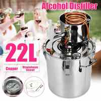 20L Distiller Moonshine Alcohol Stainless Copper DIY Home Water Wine Essential Oil Brewing Kit