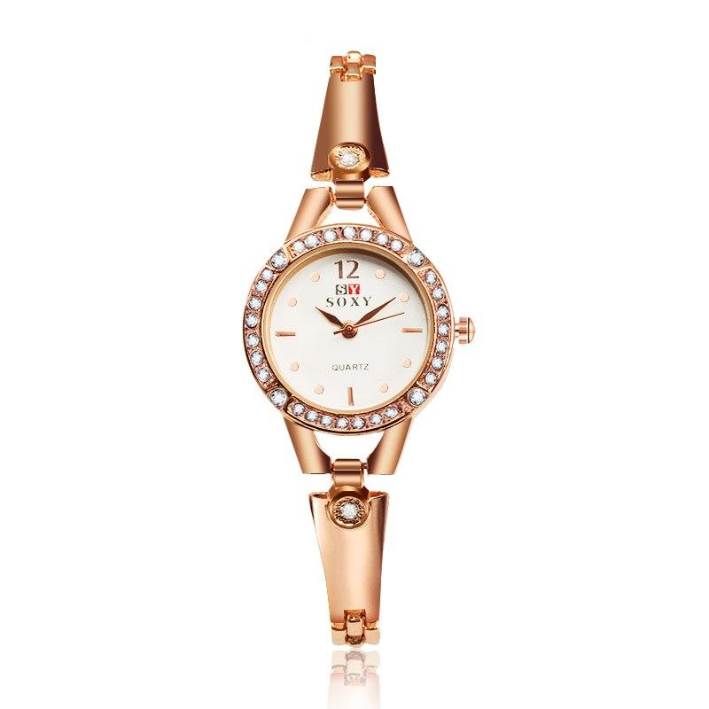 2016 New Hot sell Women Bracelet Watches Fashion Lady Gift Rhinestone designer Top Luxury Brand SOXY Relogio Feminino