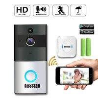 DAYTECH Wireless Doorbell Ring Chime Door Bell Video Camera WiFi IP 720P Waterproof IR Night Vision